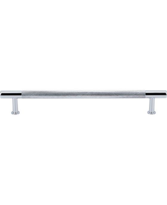 Beliza Knurled Bar Pull 7 9/16 Inch (c-c) Polished Chrome
