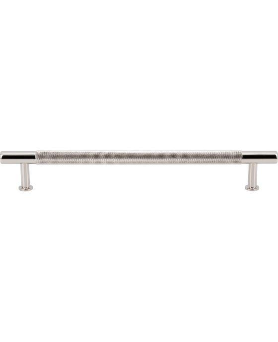 Beliza Knurled Bar Pull 7 9/16 Inch (c-c) Polished Nickel