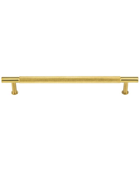 Beliza Knurled Bar Pull 7 9/16 Inch (c-c) Unlacquered Brass