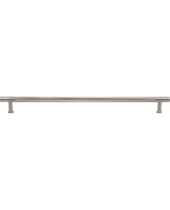 Beliza Knurled Bar Pull 12 Inch (c-c) Brushed Satin Nickel