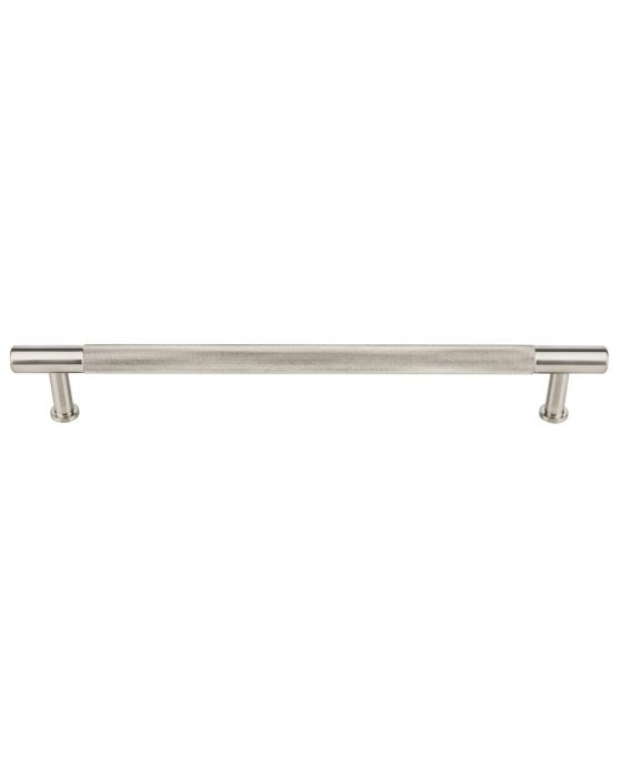 Beliza Knurled Appliance Pull 18 Inch (c-c) Brushed Satin Nickel