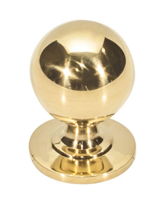 Divina Round Smooth Knob 1 Inch Unlacquered Brass
