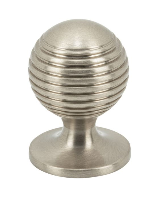 Divina Round Rimmed Knob 1 Inch Brushed Satin Nickel