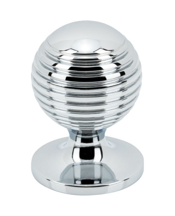 Divina Round Rimmed Knob 1 Inch Polished Chrome