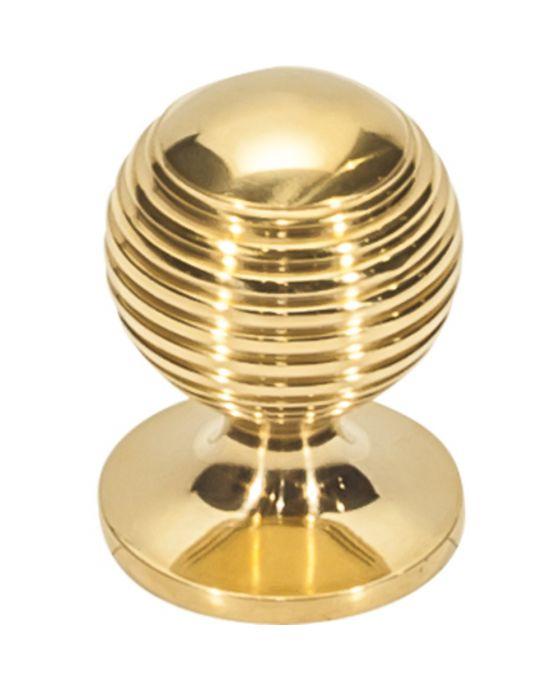 Divina Round Rimmed Knob 1 Inch Unlacquered Brass