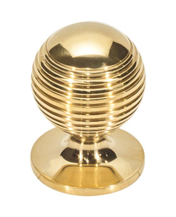 Divina Round Rimmed Knob 1 1/4 Inch Unlacquered Brass