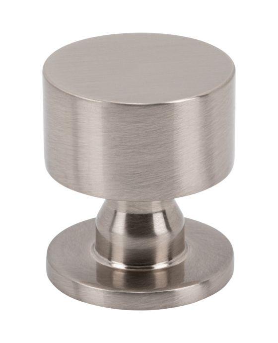 Dante Knob 1 1/8 Inch Brushed Satin Nickel
