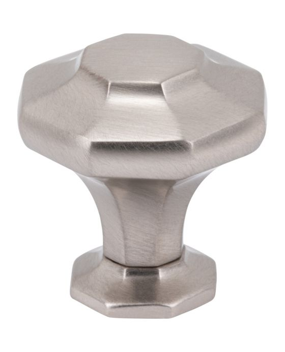 Palazzo Knob 1 3/16 Inch Brushed Satin Nickel