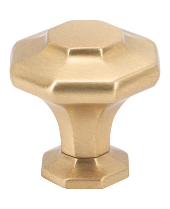 Palazzo Knob 1 3/16 Inch Satin Brass