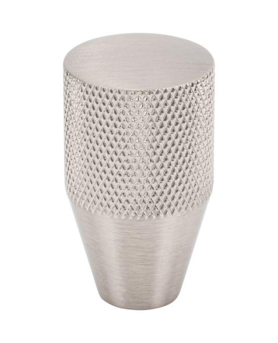Beliza Conical Knurled Knob 3/4 Inch Brushed Satin Nickel