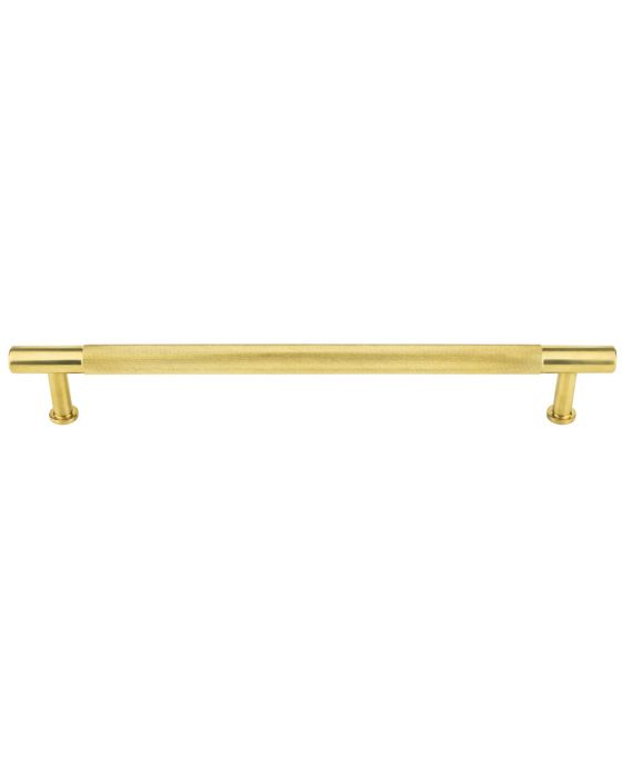 Beliza Knurled Appliance Pull 18 Inch (c-c) Unlacquered Brass