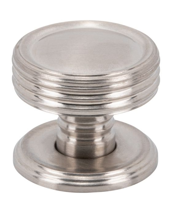 Divina Knob 1 Inch Brushed Satin Nickel