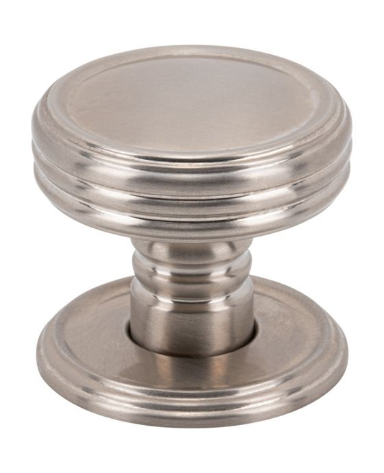 Divina Knob 1 1/4 Inch Brushed Satin Nickel
