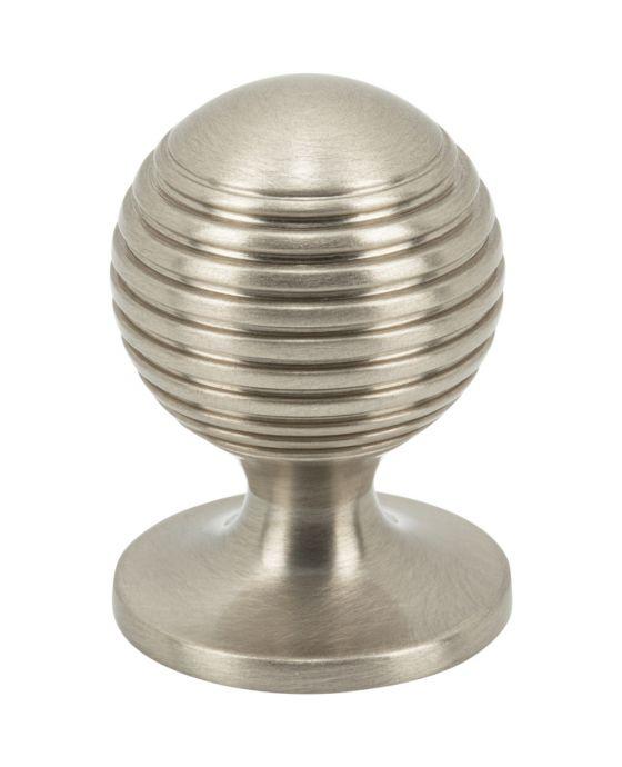 Divina Round Rimmed Knob 1 Inch Brushed Satin Nickel