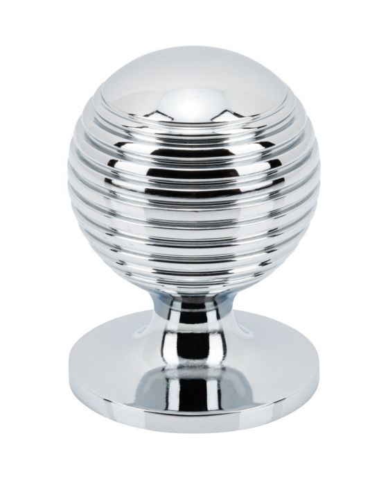 Divina Round Rimmed Knob 1 1/4 Inch Polished Chrome