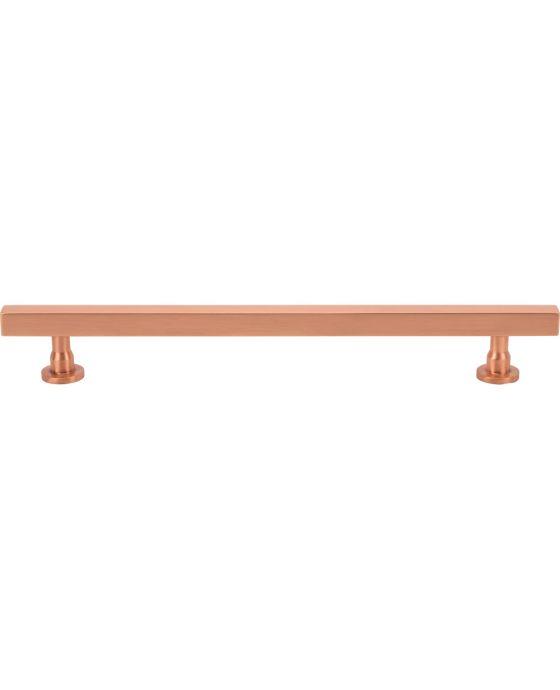 Dante Pull 7 9/16 Inch (c-c) Satin Copper
