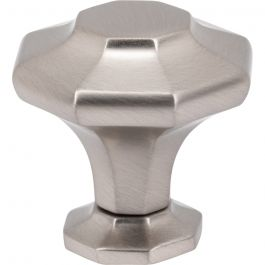 Palazzo Knob 1 3/8 Inch Brushed Satin Nickel