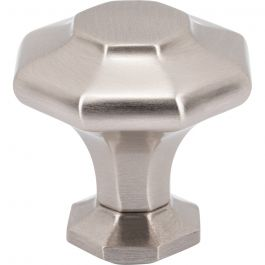 Palazzo Knob 1 5/8 Inch Brushed Satin Nickel