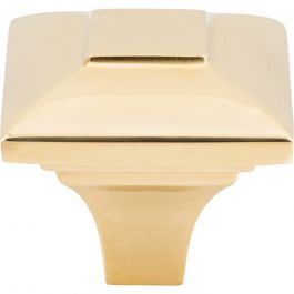 Alston Knob 1 3/16 Inch Unlacquered Brass