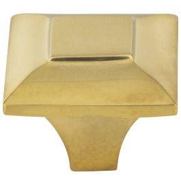 Alston Knob 1 5/16 Inch Unlacquered Brass