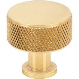 Beliza Cylinder Knurled Knob 15/16 Inch Polished Brass