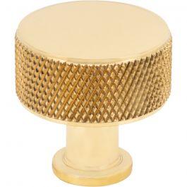 Beliza Cylinder Knurled Knob 1 Inch Polished Brass