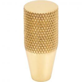 Beliza Conical Knurled Knob 1/2 Inch Polished Brass