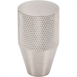 Beliza Conical Knurled Knob 3/4 Inch Brushed Satin Nickel