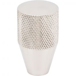 Beliza Conical Knurled Knob 3/4 Inch Polished Nickel