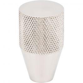 Beliza Conical Knurled Knob 3/4 Inch Polished Nickel