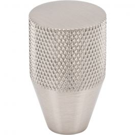 Beliza Conical Knurled Knob 13/16 Inch Brushed Satin Nickel