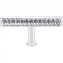 Beliza Knurled T Knob 2 3/4 Inch Polished Chrome