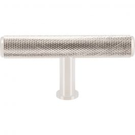 Beliza Knurled T Knob 2 3/4 Inch Polished Nickel