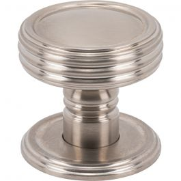 Divina Knob 1 1/2 Inch Brushed Satin Nickel