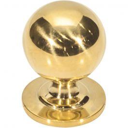 Divina Round Smooth Knob 1 1/8 Inch Unlacquered Brass