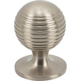Divina Round Rimmed Knob 1 1/8 Inch Brushed Satin Nickel