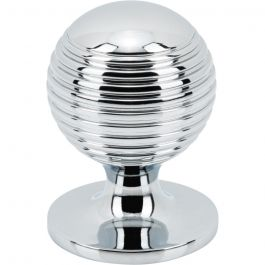 Divina Round Rimmed Knob 1 1/8 Inch Polished Chrome
