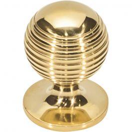 Divina Round Rimmed Knob 1 1/8 Inch Unlacquered Brass