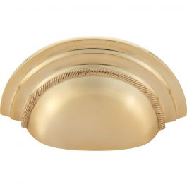 Purity Cup Pull 3 Inch (c-c) Unlacquered Brass