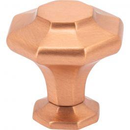 Palazzo Knob 1 3/16 Inch Satin Copper