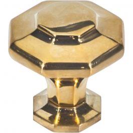 Palazzo Knob 1 3/16 Inch Unlacquered Brass