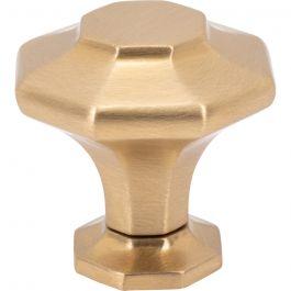 Palazzo Knob 1 3/8 Inch Satin Brass