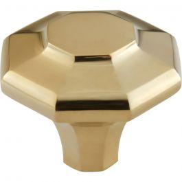 Palazzo Knob 1 5/8 Inch Unlacquered Brass