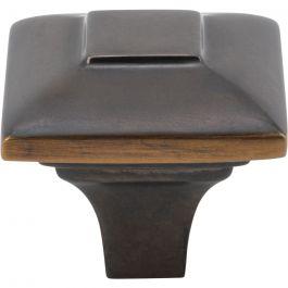 Alston Knob 1 3/16 Inch Milano Bronze