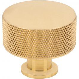 Beliza Cylinder Knurled Knob 1 3/8 Inch Polished Brass