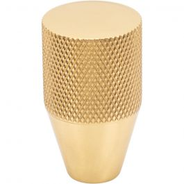 Beliza Conical Knurled Knob 3/4 Inch Polished Brass