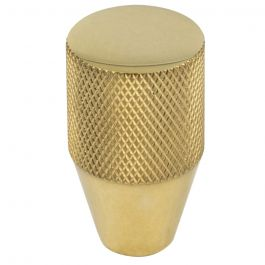 Beliza Conical Knurled Knob 3/4 Inch Unlacquered Brass