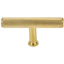 Beliza Knurled T Knob 2 3/4 Inch Unlacquered Brass