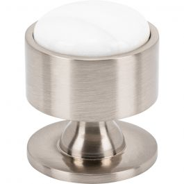 Firesky Calacatta Gold Knob 1 3/8 Inch Brushed Satin Nickel Base