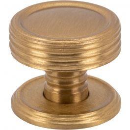 Divina Knob 1 Inch Satin Brass
